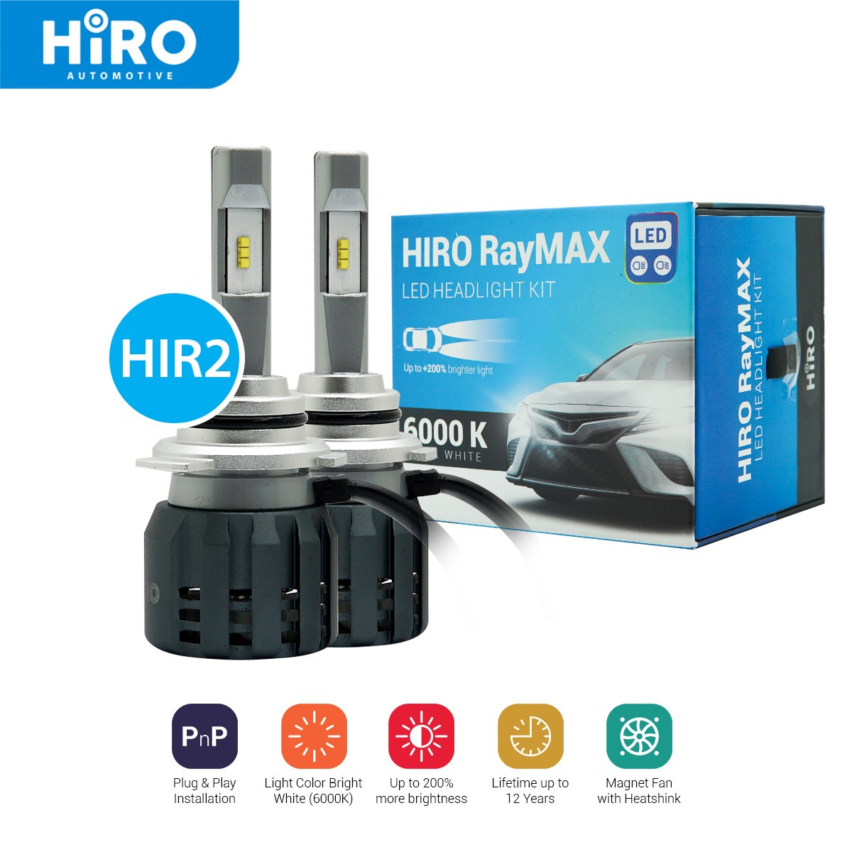 HIRO LED RAYMAX - LAMPU LED HIR2 6000K