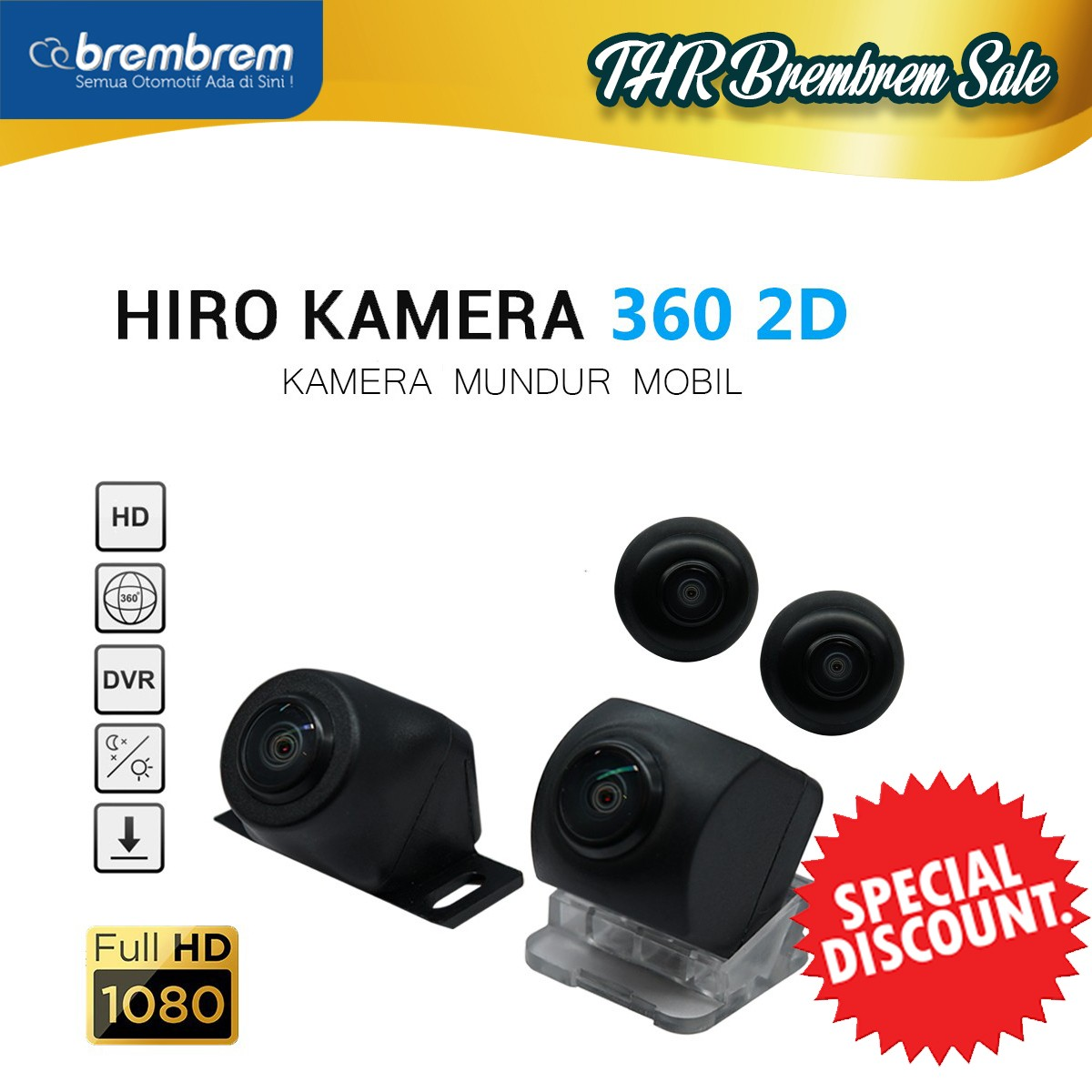 [THR BREMBREM] HIRO EAGLE 360 KAMERA - SORROUND 2D CAMERA with HD QUALITY