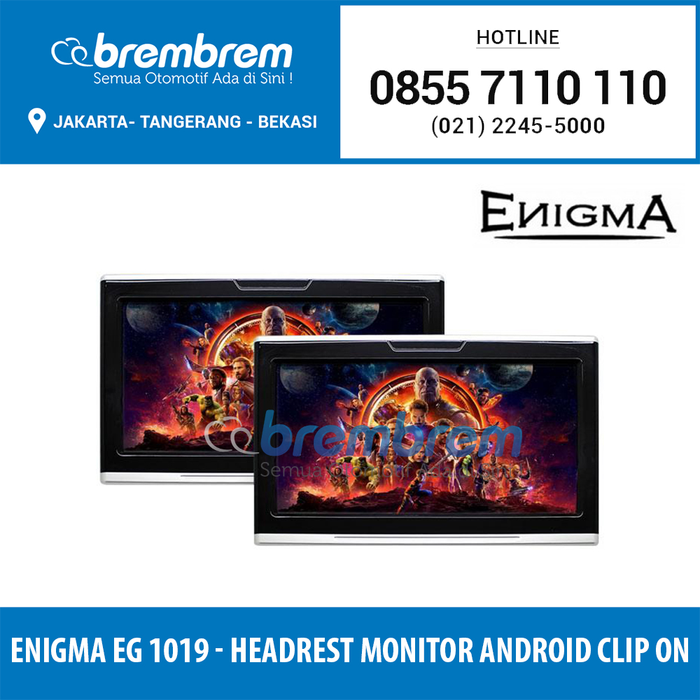 Enigma EG 1019 - Headrest Monitor Android System