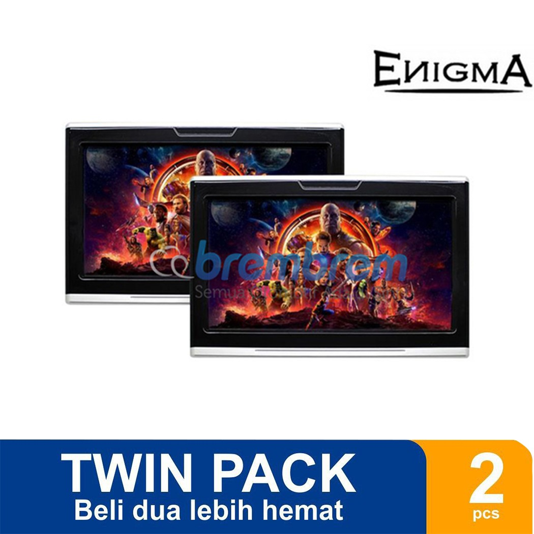 [TWIN PACK] ENIGMA EG 1019  - HEADREST MONITOR ANDROID SYSTEM