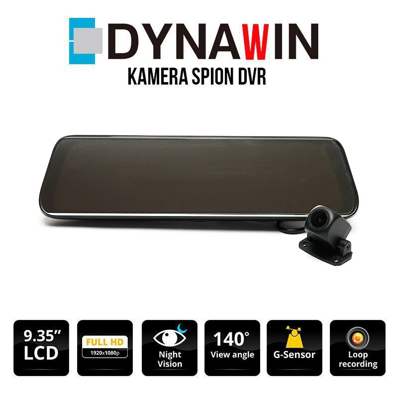 KAMERA DVR DYNAWIN 2 CHANNEL - LCD SPION 9.35 INCH