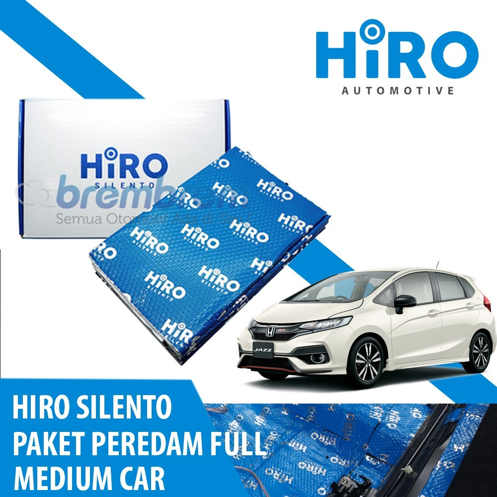 HIRO SILENTO - PAKET PEREDAM FULL - MEDIUM CAR