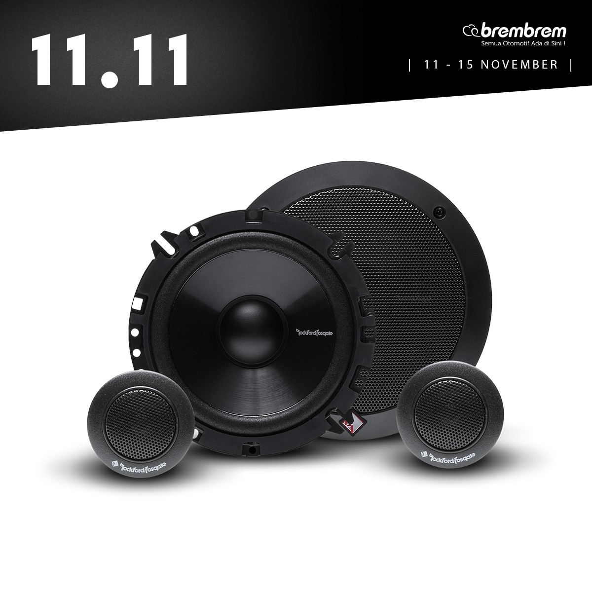 [11.11 SALE] ROCKFORD FOSGATE PRIME R 165 S - SPEAKER 2 WAY
