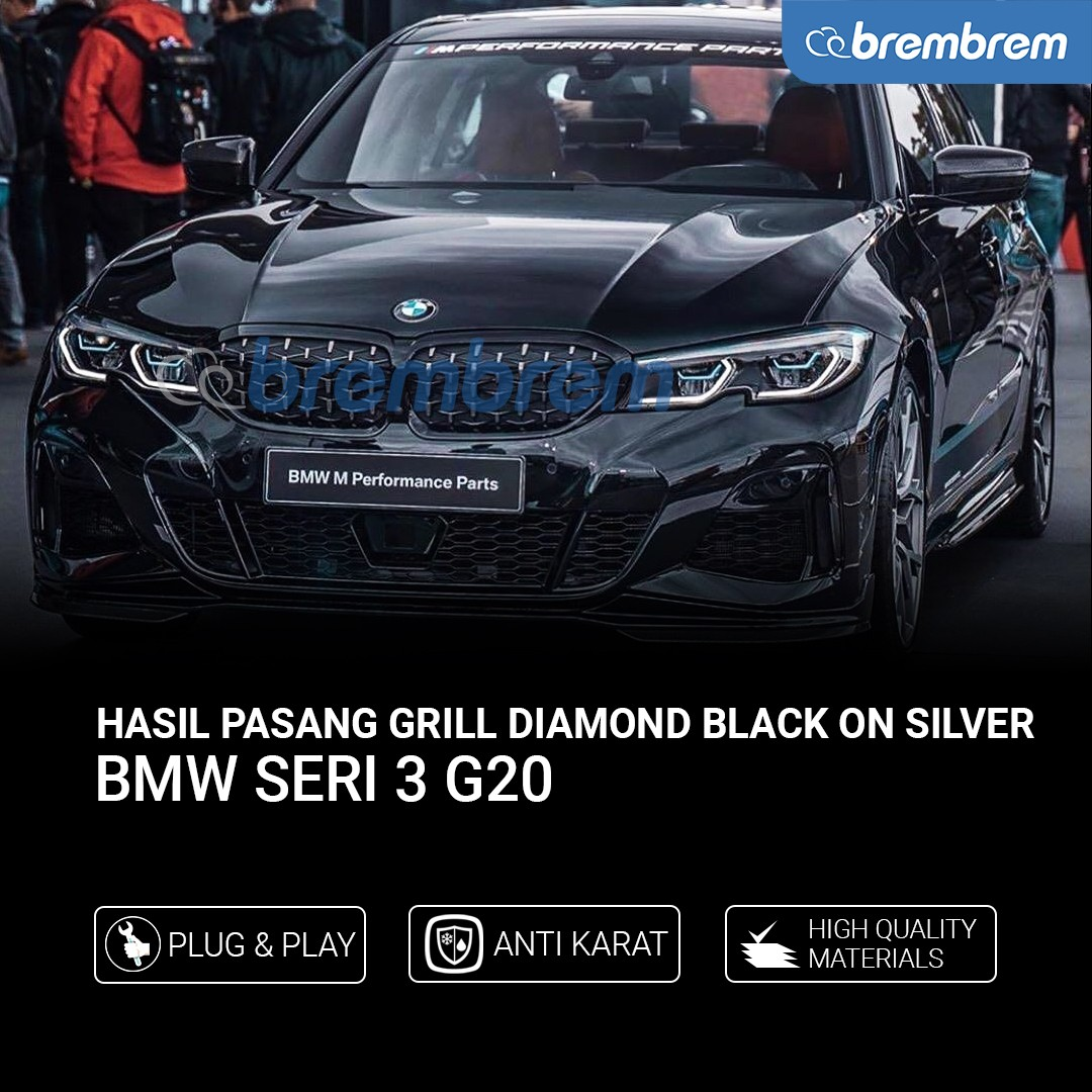 GRILL DIAMOND BMW SERI 3 G20